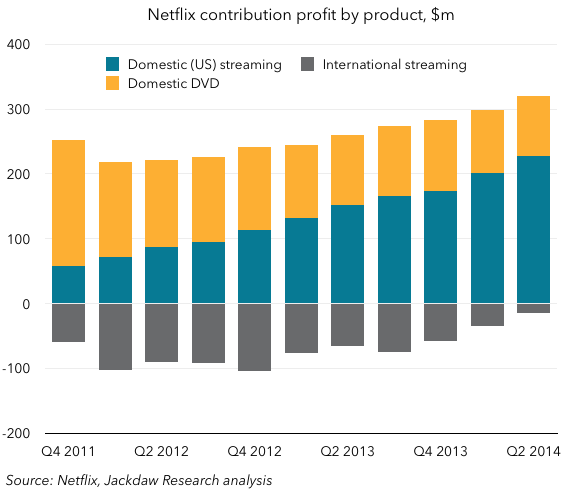 Netflix contribution profit by product